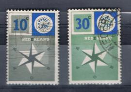 NEDERLAND 1957 NVPH 700-701 GEBRUIKT ++ A 523