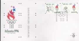 ARUBA 1996 FDC E 063 OLYMPISCHE SPELEN ATLANTA