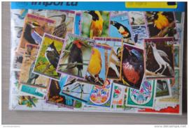 Importa Postzegelpakket 100 vogels ++ 33