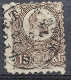 HONGARIJE 1871 MCHL 5 GEBRUIKT ++ L 98