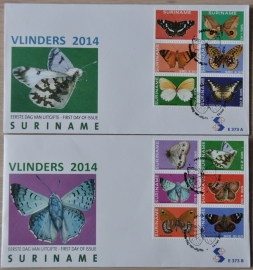 REP. SURINAME ZBL FDC E 373 AB VLINDERS