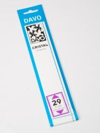DAVO CRISTAL STROKEN MOUNTS C29 (215 x 33) 25 STK/PCS