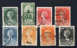 NEDERLAND 1923 NVPH 121-128 GESTEMPELD ++ L 538