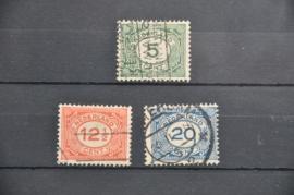 NEDERLAND 1921 NVPH 107-109 GESTEMPELD ++ O 071