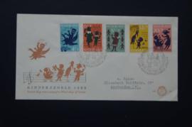 NEDERLAND 1963 FDC 60 GETYPT OPEN KLEP ++ VOORBEELD SCAN