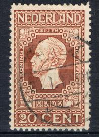 NEDERLAND 1913 NVPH 95 GESTEMPELD ++ J 346