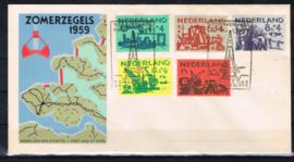 NEDERLAND 1958 FDC E38 GESLOTEN KLEP