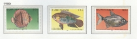 REP. SURINAME 1980 ZBL SERIE 221 VISSEN FISHES