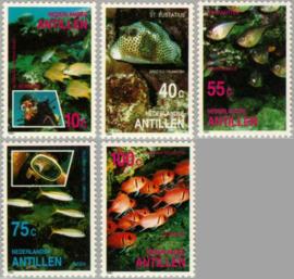 ANTILLEN 1991 NVPH SERIE 968 FAUNA VISSEN FISHES