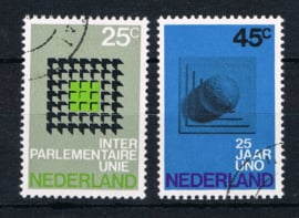 NEDERLAND 1970 NVPH 973-974 GEBRUIKT ++ L 591