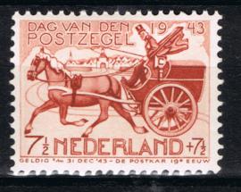 NEDERLAND 1943 NVPH 422 P3 OPEN LANTAARN PLAK(REST) ++ H 417