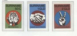 REP. SURINAME 1980 ZBL SERIE 230 ONAFHANKELIJKHEID