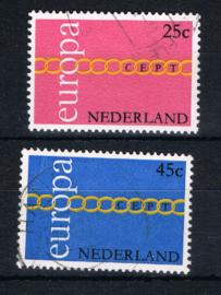 NEDERLAND 1971 NVPH 990-991 GEBRUIKT ++ L 595