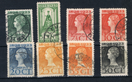 NEDERLAND 1923 NVPH 121-128 GESTEMPELD ++ L 537