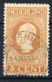 NEDERLAND 1913 NVPH 91 GESTEMPELD ++ J 350