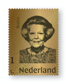 NEDERLAND GOUDEN ZEGEL BEATRIX  LIMITED EDITION