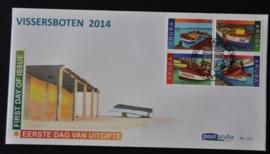 ARUBA 2014 FDC E 202 VISSERSBOTEN