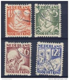 NEDERLAND 1930 NVPH R 86-89 GESTEMPELD ++ 262
