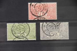 NEDERLAND 1906 NVPH 84-86 GESTEMPELD ++ A 433