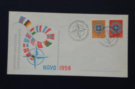 NEDERLAND 1958 FDC E37 OPEN KLEP