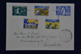 ZOMER 1949 DIEMERBRUG STEMPEL. BOVEN OPEN