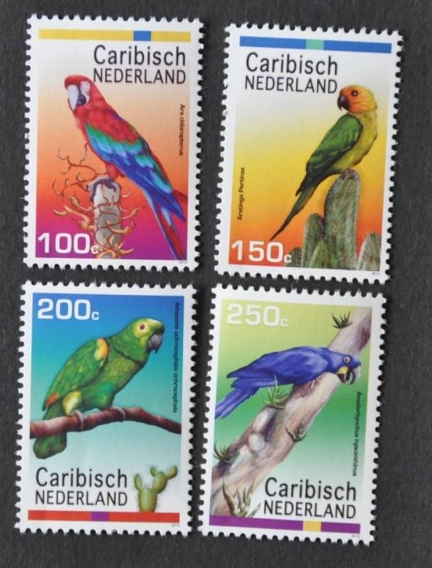 NVPH 27-30 VOGELS BIRDS OISEAUX PAPEGAAI PARROT