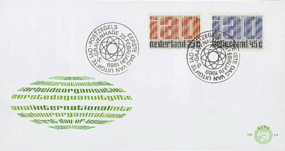 NEDERLAND 1969 FDC E94 OPEN KLEP ++ VOORBEELD SCAN