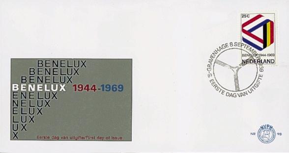 NEDERLAND 1969 FDC E98 OPEN KLEP ++ VOORBEELD SCAN