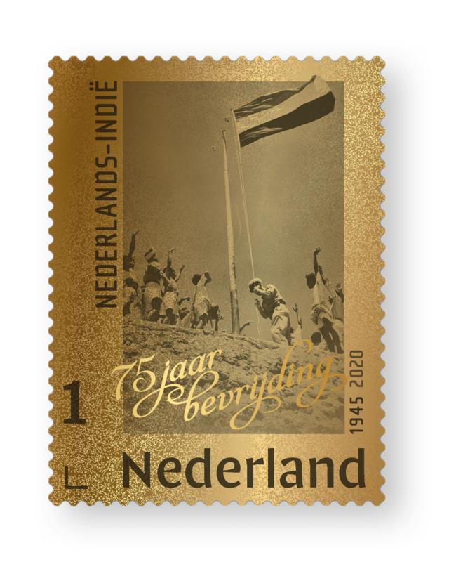 NEDERLAND GOUDEN ZEGEL BEVRIJDING NED. INDIE  LEES!!