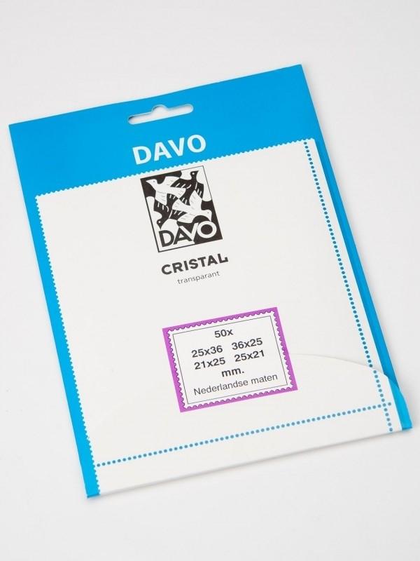 DAVO CRISTAL STROKEN MOUNTS 50 STK/PCS (36mm x 25mm)