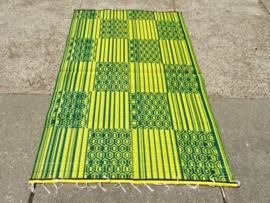 Plastic vloerkleed 120 x 180 cm,  Afrika,  geel/groen