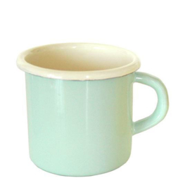 Emaille mok, 8 cm, pastel groen