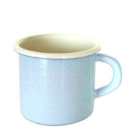 Emaille mok, 8 cm, pastel blauw