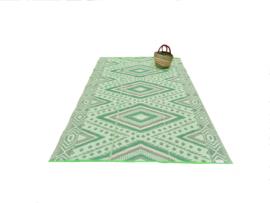 Plastic vloerkleed 180 x 270 cm, Design ruit, opvouwbaar,  groen