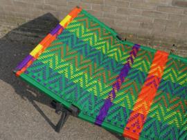 Owusu stretcher, groen, zig zag design