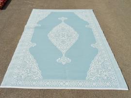 Plastic vloerkleed 180 x 270 cm,  Perzisch, 'misty grey'