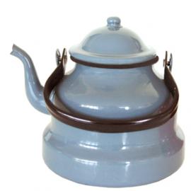Emaille water ketel, grijs, 16 cm, 1,5  liter