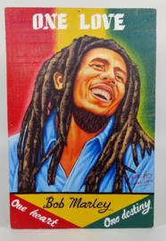Uithangbord /schilderij 60 x 40 cm, 'Bob Marley'