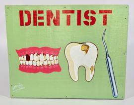 Uithangbord 50 x 40 cm, 'Dentist'