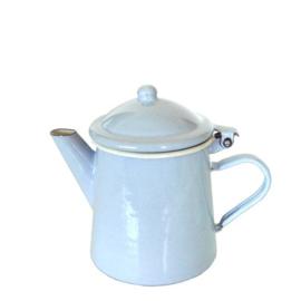 Emaille koffiepot 0,5 liter, 16 cm, pastel blauw
