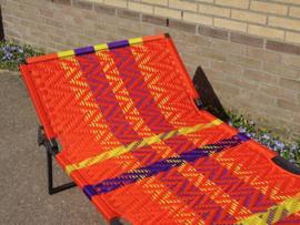Owusu stretcher, geel oranje paars, zigzag design