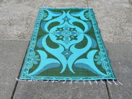 Plastic vloerkleed 120 x 180 cm,  Afrika,  groen/turkoois