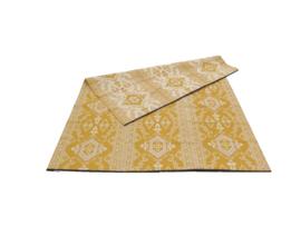 Plastic vloerkleed 270 x  360 cm (opvouwbaar), oker geel/crème