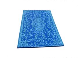 Plastic vloerkleed 120 x 180 cm, Japanse bloem, blauw turkoois