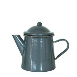 Emaille koffiepot 0,5 liter, 16 cm, grijs