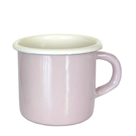 Emaille mok, 8 cm, pastel roze