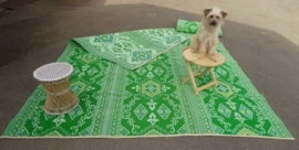 Plastic vloerkleed 270 x  360 cm (opvouwbaar), groen/groen/turkoois