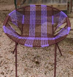 Owusu chair nr. 17 Ghanese kuipstoel Bruin/paars