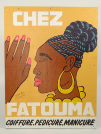 Kappersbord 45 x 60 cm,  'Chez Fatouma'