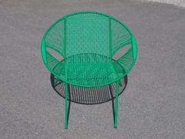 Owusu chair nr. 61 Ghanese kuipstoel donker groen